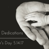 Infant Dedications